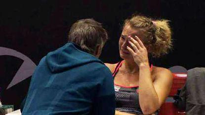 """""""Bleitkous! Je bent een baby!"""": Belgische tennisster laat zich niet van haar fraaiste kant zien"""