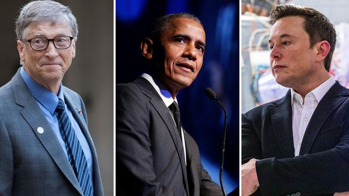 Bill Gates, Barack Obama et Elon Musk.