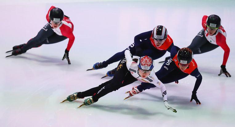 Alleen al de Mokdong-ijsbaan in Seoul verwelkomt jaarlijks zo'n 5500 Koreanen voor een shorttrackles en 400 kinderen voor een zomercursus. Beeld ISU via Getty Images