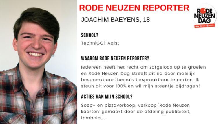 Dit artikel werd geschreven door Jongerenreporter Joachim Baeyens