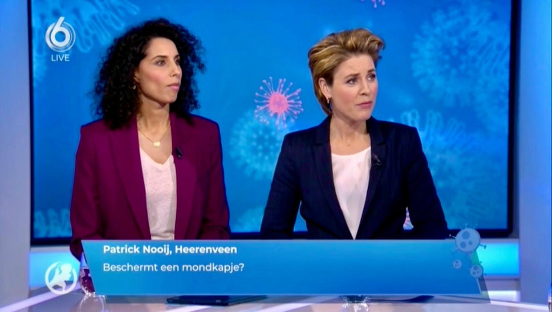 Hart van Nederland-presentatrices Siham Raijoul en Mirella van Markus. Beeld