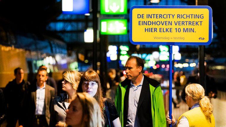 Op het traject Amsterdam-Utrecht-Eindhoven gaan Intercity's iedere tien minuten rijden. Beeld ANP