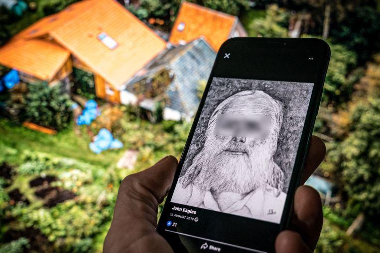 De Facebookpagina van de 67-jarige Gerrit-Jan van B., de vader die met zes kinderen ondergedoken zat in een boerderij in Ruinerwold. Beeld Rob Engelaar