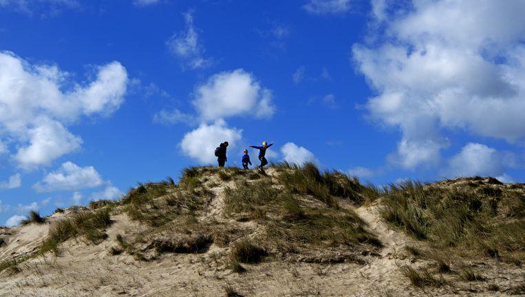 Vakantiegangers op Texel Beeld ANP
