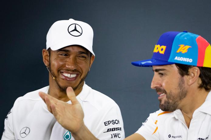 Lewis Hamilton en Fernando Alonso.