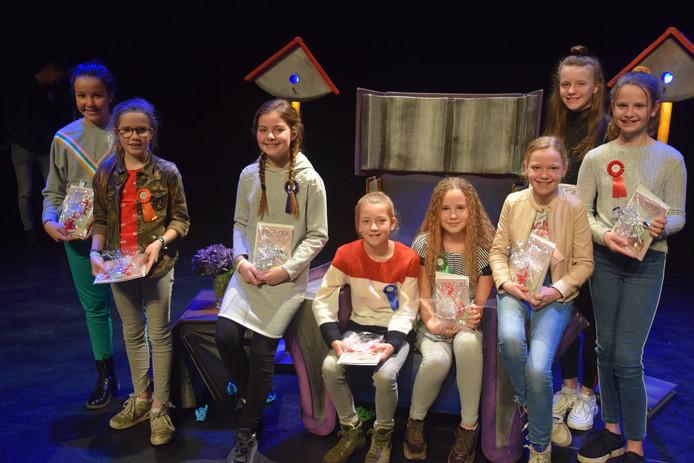 De 8 finalisten van de Brabantse voorleeswedstrijd