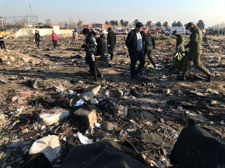 Bij de crash kwamen alle 176 inzittenden, van wie zeker 63 de Canadese nationaliteit hadden, om. Beeld VIA REUTERS