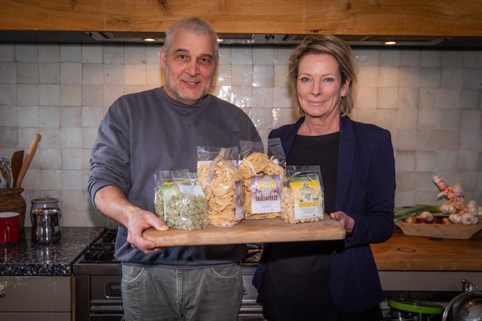 André en Marijke Roubal; met hun Zeeuwse pasta.