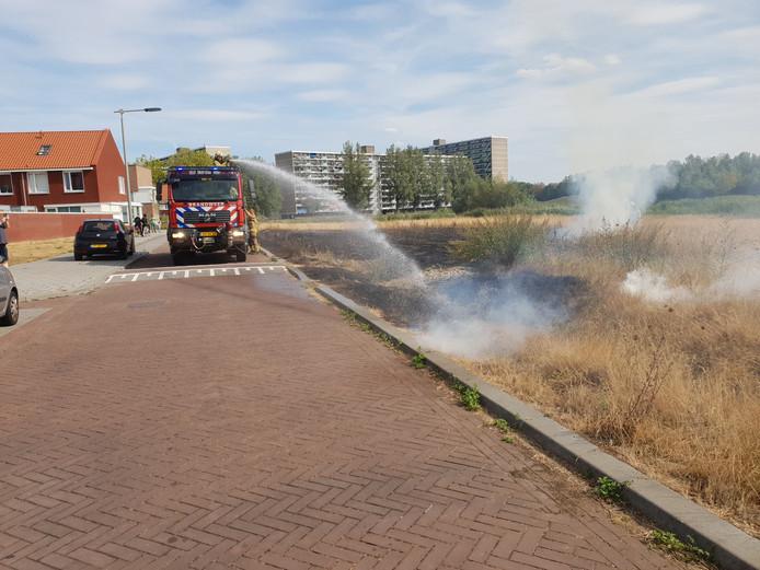 Bermbrand aan de Whemedreef in Arnhem.