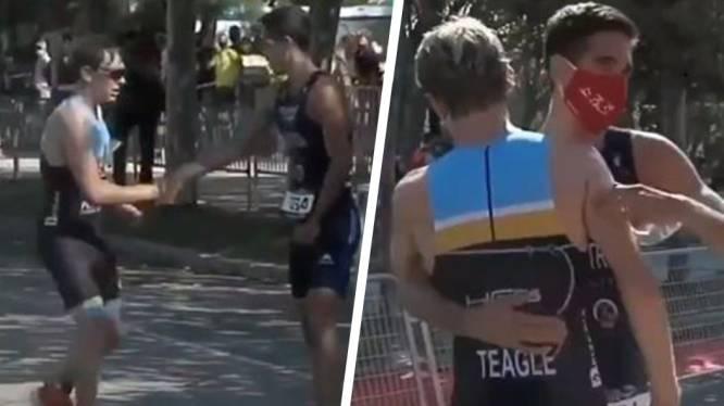 Triatleet (21) zorgt voor ultieme geste van sportiviteit wanneer zijn concurrent zich even misrekent