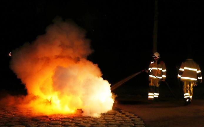 Branden in Waardenburg.