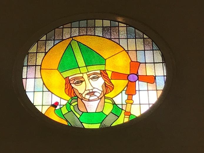 Raam met de heilige Willibrordus