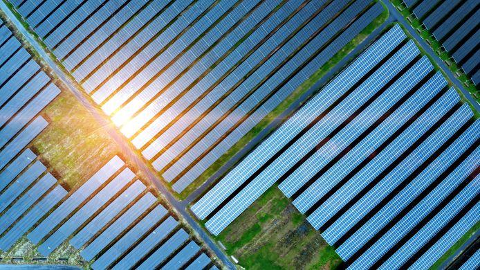 Een zonnepark. Foto ter illustratie