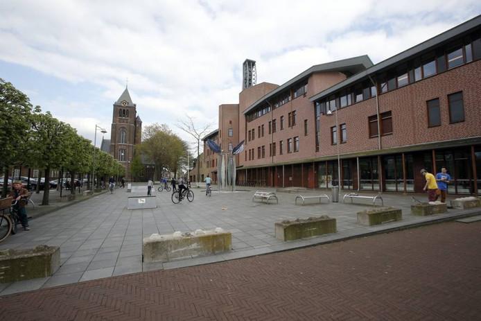 Het gemeentehuis van Reusel-De Mierden. foto Bert Jansen