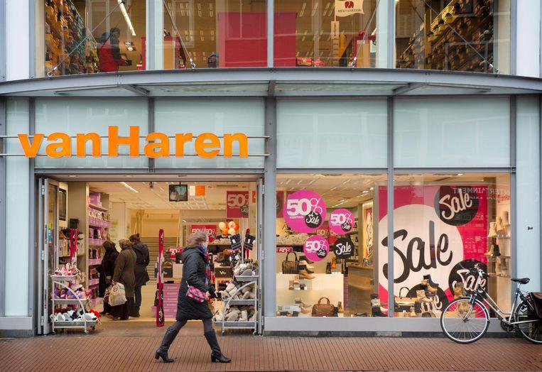 Exterieur van schoenenwinkel Van Haren in Nijmegen Beeld anp