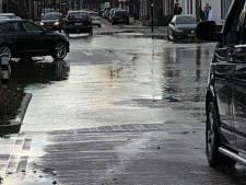 Waterleidingbreuk in Someren-Eind