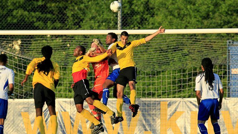 De laatste wedstrijd van Chabab, in 2012 tegen RKSV Leonidas Beeld Proshot
