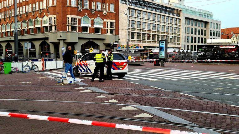 Het Muntplein werd afgezet door de politie. Beeld
