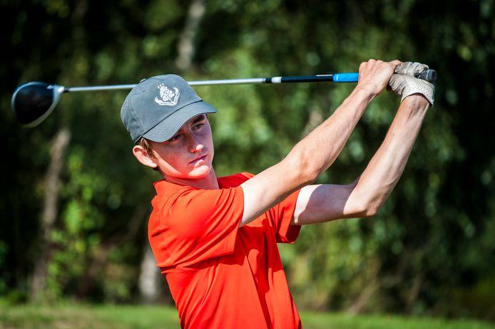 Het Hengelose talent Joris Spanjer (19) maakt zich op voor een Amerikaans golfavontuur aan de universiteit van Texas.