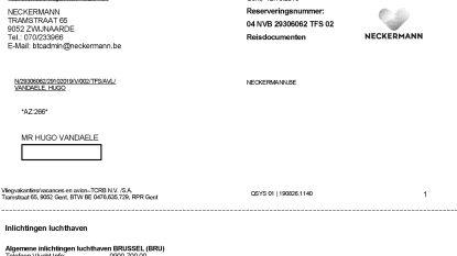 Neckermann-klanten krijgen ondanks faillissement nog steeds reisdocumenten toegestuurd