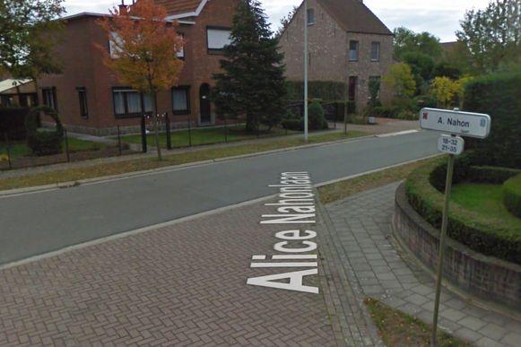 De Alice Nahonlaan in Melsele, een zeldzame straat die vernoemd is naar een vrouw.