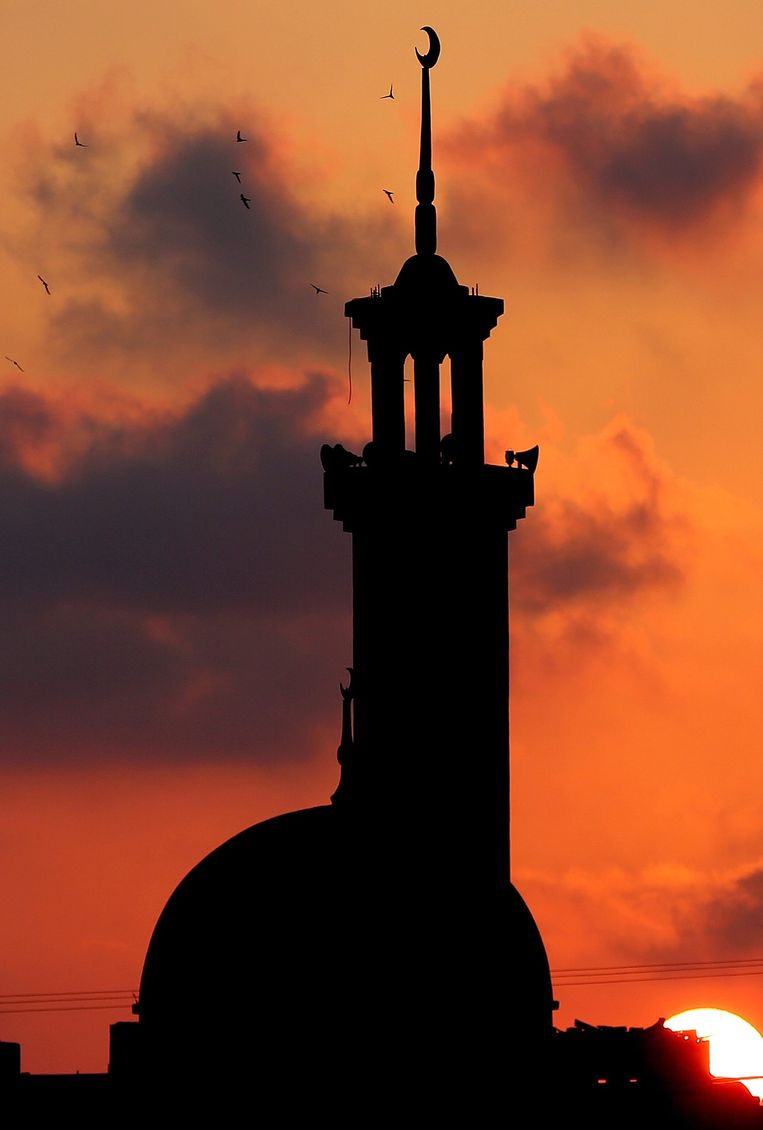 De al-Kateeba Moskee in Gaza Stad Beeld null