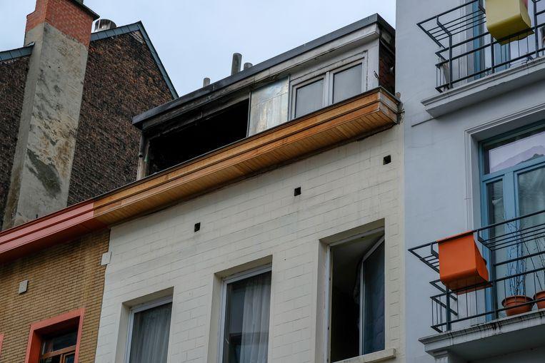 Woningbrand in Bloemistenstraat.