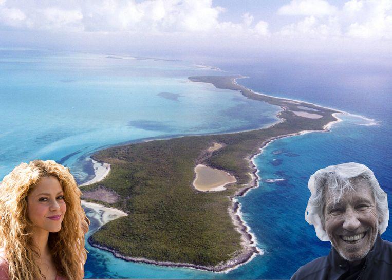 Het eiland van Shakira en Roger Waters en Shakira.