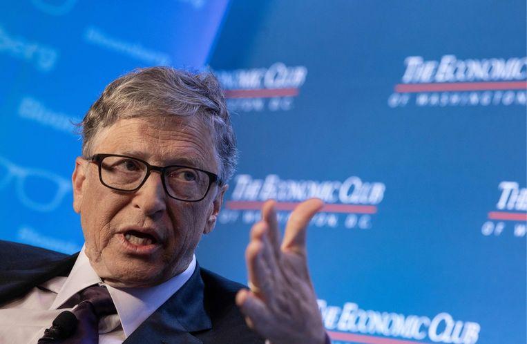 Volgens de complotdenkers van QAnon is corona een uitvinding van Bill Gates en heeft hij het vaccin al gepatenteerd. Zijn doel: een fortuin verdienen en de wereldbevolking decimeren. Beeld