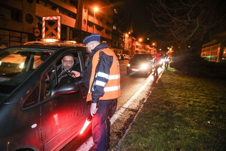 Politie houdt alcoholcontrole in Gent.