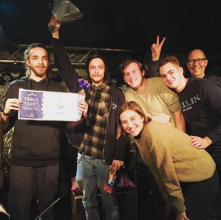 De muzikale broers van 'Braca' (links) gingen met de overwinning aan de haal tijdens 'Nief Talent' in Herenthout.