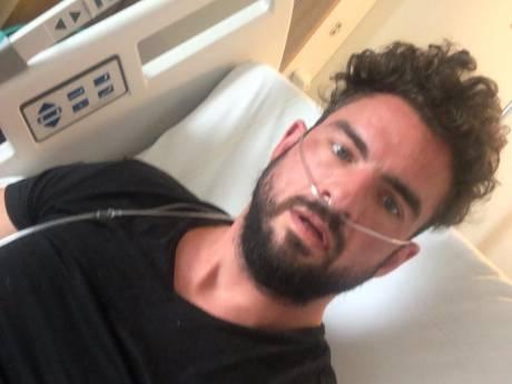 Krachtpatser Matthieu (37) was topfit, maar ligt nu in het ziekenhuis met corona: 'Blijkbaar veel mensen die denken dat het nep is'