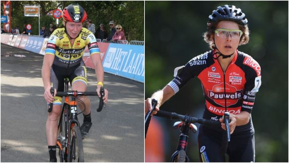 Voor het eerst zaten Kim Van de Steene (32, links) - terug na een zware depressie - en Jolien Verschueren (29, rechts) - vorig jaar getroffen door een hersentumor - weer op de fiets in een wedstrijd.
