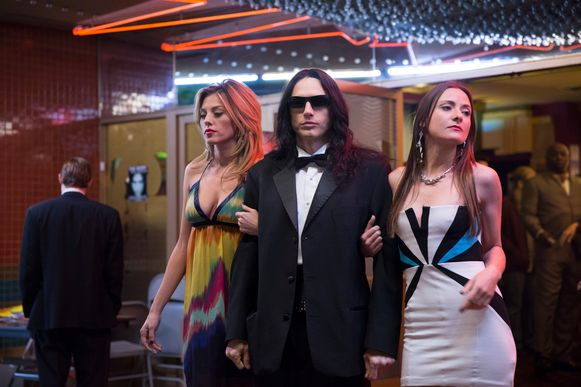 """This image released by A24 shows James Franco in a scene from """"The Disaster Artist."""" Franco failed to receive an Oscar nomination for best actor on Tuesday, Jan. 23, 2018.  (Justina Mintz/A24 via AP)"""