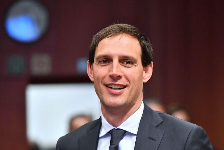 Minister Hoekstra van Financiën beloofde in april met een 'donkergroene obligatie' te komen. Beeld AFP