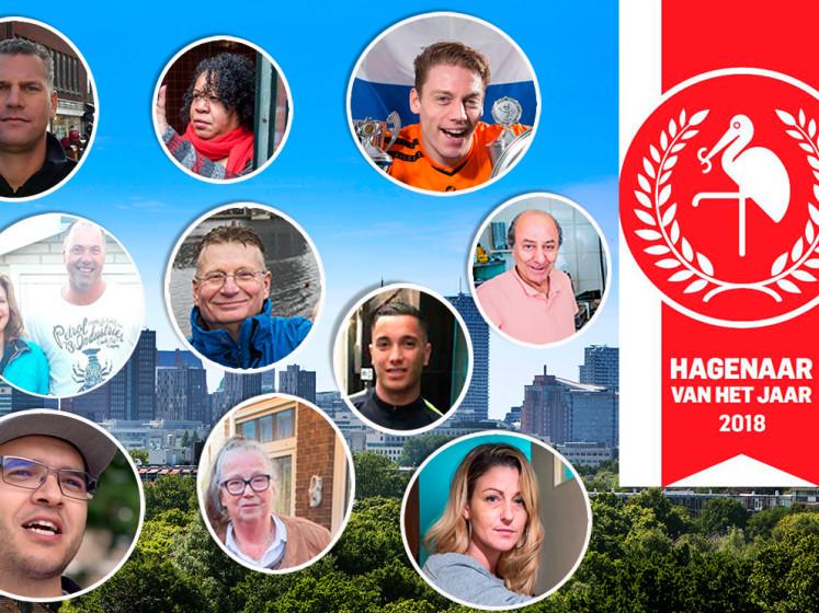 Stem! Dit zijn de genomineerden voor de verkiezing Hagenaar van het jaar 2018