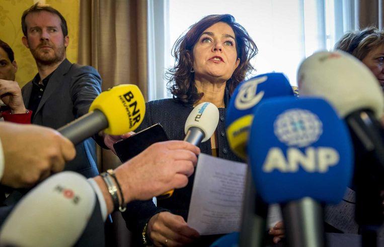 Kamervoorzitter Van Miltenburg maakt bekend dat een commissie het lek gaat onderzoeken. Beeld anp