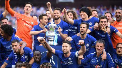 Hazard scoort vanop stip, Courtois houdt alles tegen: Chelsea wint FA Cup