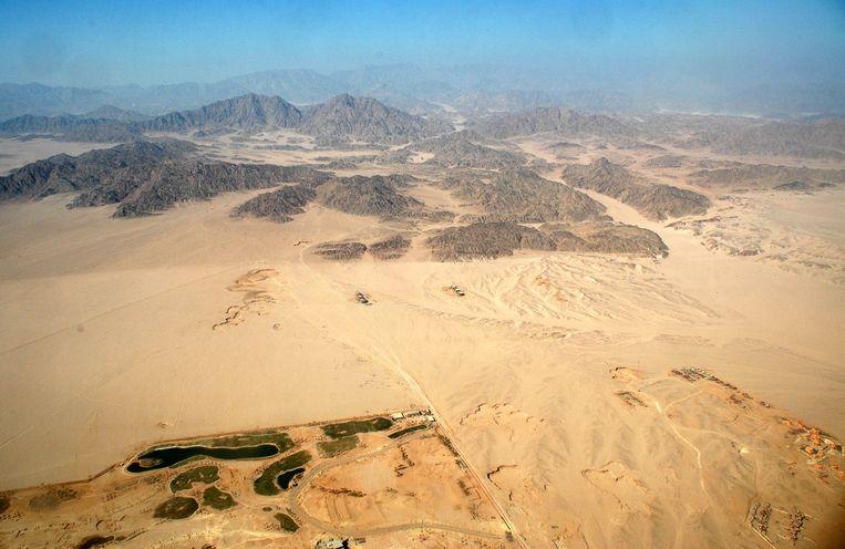 De Sinaïwoestijn in Egypte.