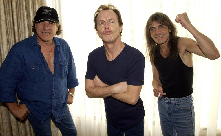 Brian Johnson, Angus Young, en Malcolm Young. Malcolm trok zich in 2014 terug uit de band.
