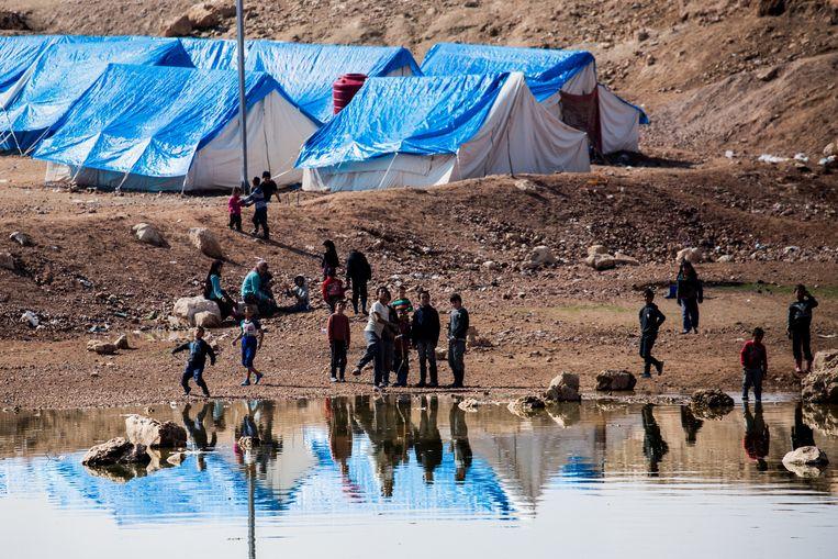 Archiefbeeld van een vluchtelingenkamp in Syrië. Beeld NurPhoto via Getty Images