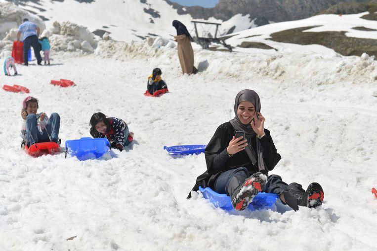 Oostenrijk is populair als vakantiebestemming onder moslims, vooral uit Saudi-Arabië. Eerdere voorstellen voor hoofddoekverboden stuitten dan ook op bezwaren uit de toerismesector. Beeld AP
