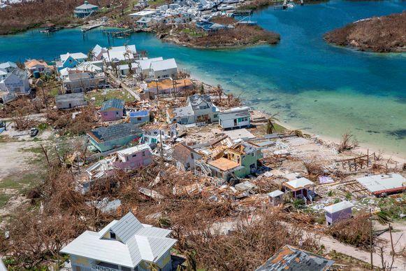 Het eiland Abaco, één van de Bahama's die bekendstaat om zijn havens, golfbanen en all-inclusive resorts, na de verwoestende orkaan Dorian.