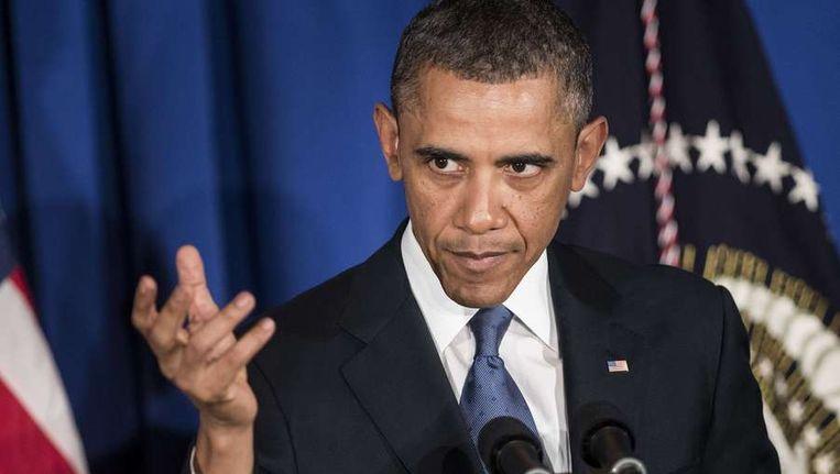 Barack Obama sprak deze week met leden van de Business Council over de sequester Beeld afp