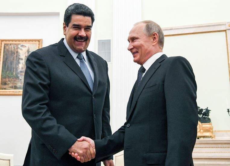 Maduro, op bezoek in Moskou in 2017 Beeld AP