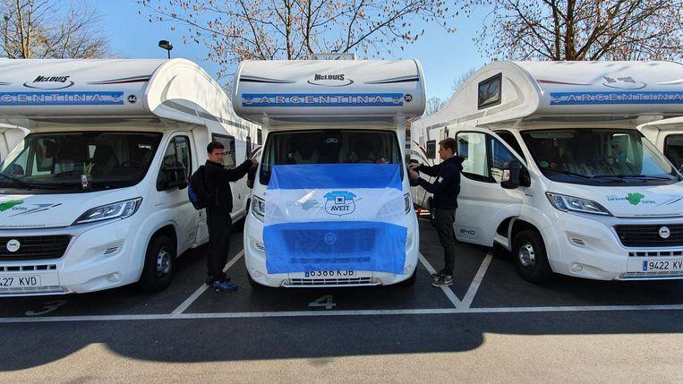 Argentijnse studenten op rondreis ondergebracht op parking Gentbrugge
