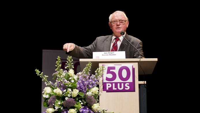 Jan Nagel op een bijeenkomst van 50Plus in juni van dit jaar.