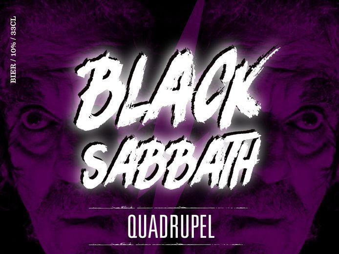 10% Black Sabbath Bliksem Breda. Quadrupel gebrouwen met ahornsiroop. Zwart, straf, onheilspellend en complex.
