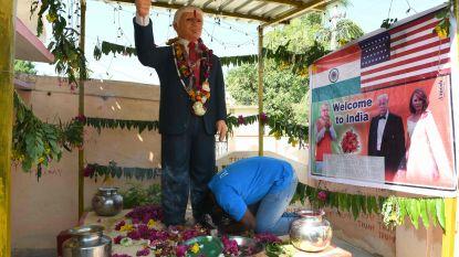 Indiër aanbidt Trump en bouwt altaar voor hem