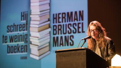 Herman Brusselmans op bezoek in bib Park
